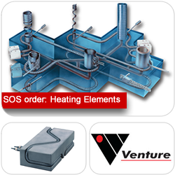 SOS delivery of specialised heating elements