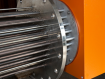 Flanged Heater: 114 KW for heating eluate