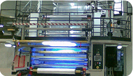 Gefran Process Controllers used on a Plastic Film Extrusion Machine