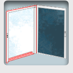 Heat tracing of cold room doors