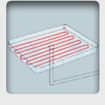 Heat tracing of drip trays