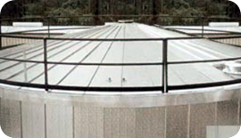 Radially installed ThermaSeam insulation panels for tanks