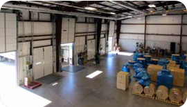 Thermon's warehouse with 5 loading docks