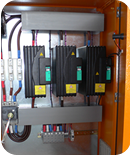 Completed panels with SSRs, heatsinks & Gefran Wattcor Power Controllers