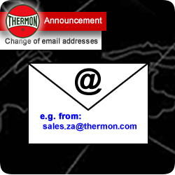 Thermon Announcement: Change of email addresses